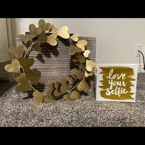 Room decor gold wall decor